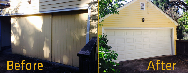 4050 Elegant Short Panel Before and After by KGN Overhead Door