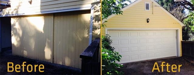 4050 Elegant Short Panel Before and After by KGN Overhead Door